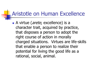 Aristotle on Human Excellence