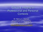 Ethics & Integrity in Professional and Personal