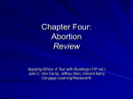 Chapter Four: Abortion
