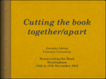 Cutting the book together/apart - Open Reflections