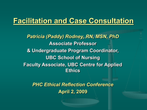 Facilitation & Case Consultation (ppt lecture)
