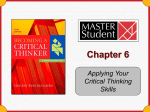 Chapter 6 - Applying Your Critical Thinking Skills