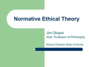 Moral Theory - Academic Resources at Missouri Western