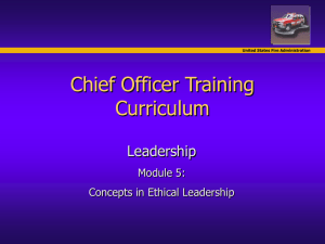 Chief Officer Training Course