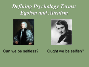 Egoism and Altruism - Fort Thomas Independent Schools