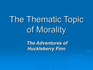 Morality-Huck - Mira Costa High School
