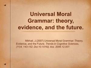 Universal Moral Grammar: theory, evidence, and the
