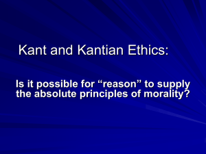 Kant and Kantianism
