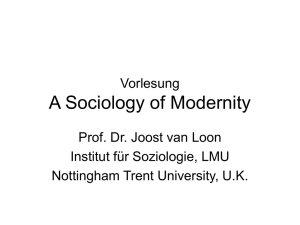 Vorlesung A Sociology of Modernity