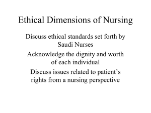 Ethical Dimensions of Nursing