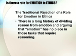 Is there a role for EMOTION in ETHICS?