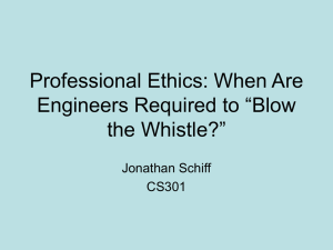 "Professional Ethics: When Are Engineers Required to ""Blow the"
