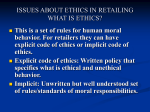 issues about ethics in retailing