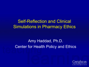 The Impact of Clinical Simulations in Pharmacy Ethics Education