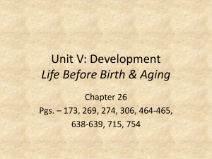 Development: Life Before Birth & Aging