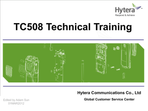 TC508 Technical Training