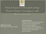 Power Factor Correction using Power Factor Transducer and
