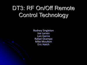 DT3: RF On/Off Remote Control Technology