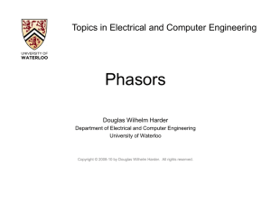 Phasors - Electrical and Computer Engineering