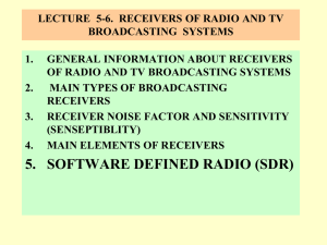 receivers OF RADIO and TV broadcastING systems