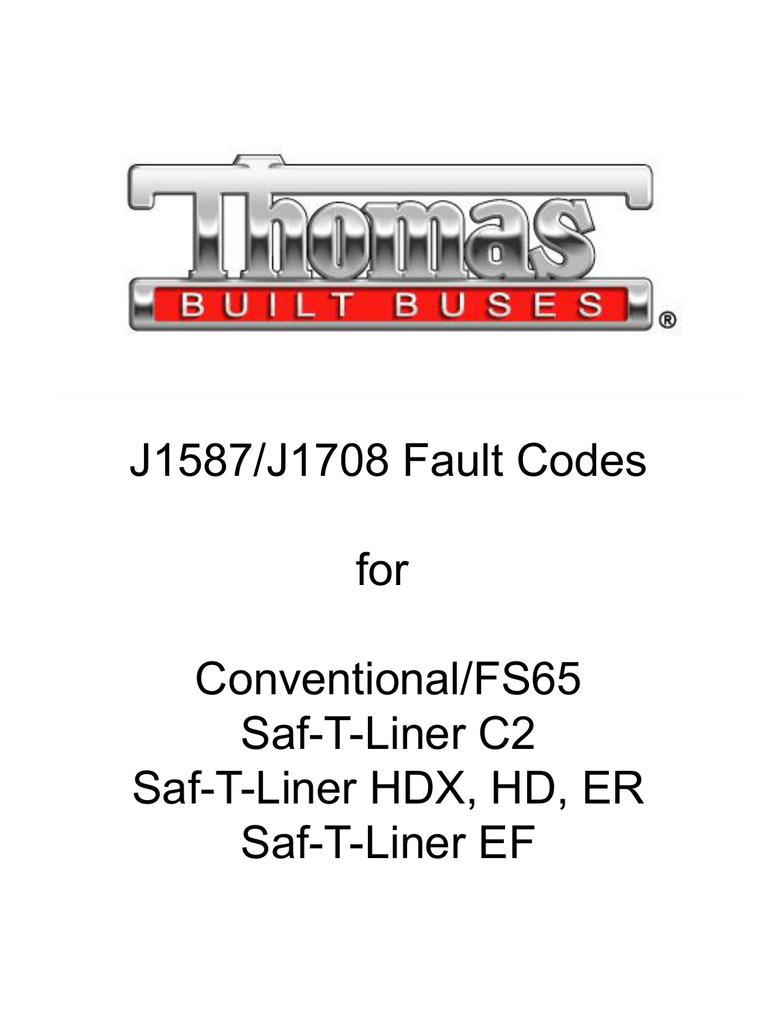 J1587/J1708 Fault Codes