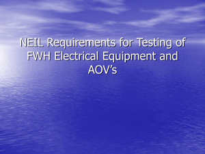 NEIL Requirements for Testing of FWH electrical Equipment