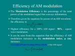 Efficiency of AM modulation