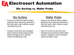 Electrosort Automation Die Sorting vs. Wafer Probe