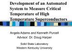 Development of an Automated System to Measure Critical
