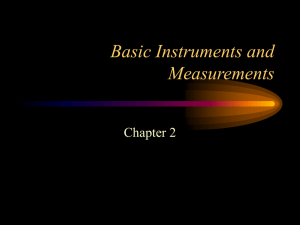 Basic Instruments and Measurements
