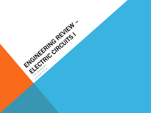 Engineering Review – Electric Circuits I