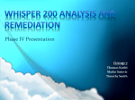 Whisper 200 Analysis and Remediation