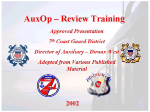 Seamanship Chapter 3 - USCG Auxiliary,1700204, serving