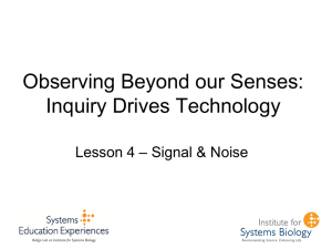 Signal & Noise - Institute for Systems Biology