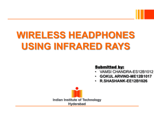 WIRELESS HEADPHONES USING INFRARED RAYS