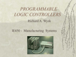 Chapter 7. PROGRAMMABLE LOGIC CONTROOLER