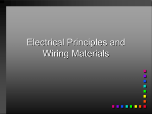 Electrical Principles and Wiring Materials