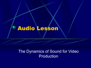 Audio and Sound Control