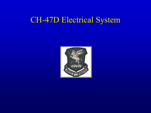 CH-47D Electrical System Operation
