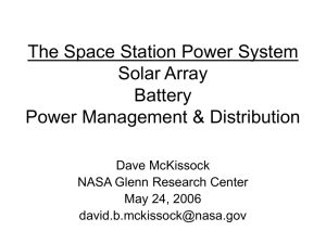 The Space Station Power System