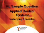 Underlying Principles - Sample H/L Question