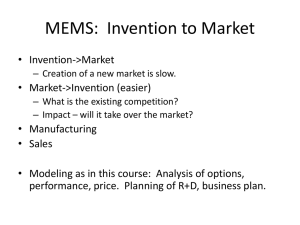 MEMS: Invention to Market