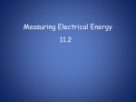 11-2 Measuring Electrical Energy