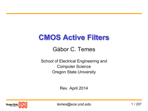 12. CMOS Active Filters - Classes