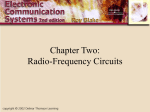 Chapter Two: Radio - Frequency Circuits