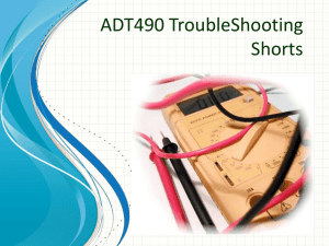 ADT490 TroubleShooting Shorts 2 Shorts With a Ohmmeter Two