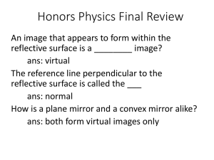 Honors Physics Final Review Spring 2015