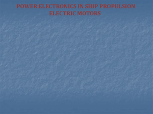 Power electronics in ship propulsion electronic motors