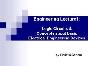 Engineering Lecture1: Logic Circuits & Basic