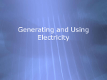 Generating and Using Electricity
